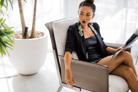 Black Embellished Blazer from Pretty Little Thing x Kourtney Kardashian // Notjessfashion.com