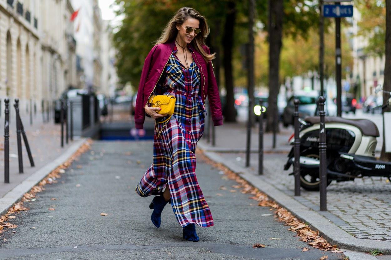 Thanksgiving Outfit Ideas - Plaid Dress // Notjessfashion.com