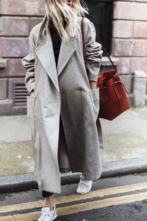 Gray Oversized Maxi Coat // Notjessfashion.com
