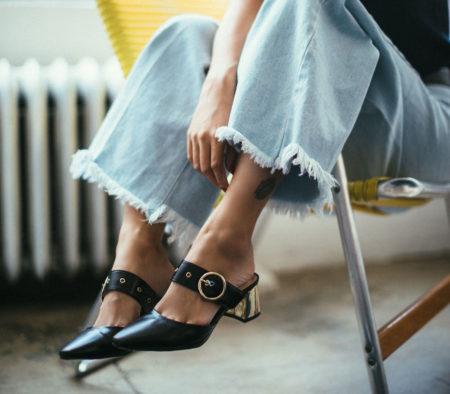 Black Pointed Mules Kitten Heels // Notjessfashion.com