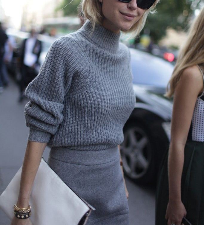 Wardrobe Staples That Make Getting Dressed Easier - Gray Turtleneck Sweater // Notjessfashion.com