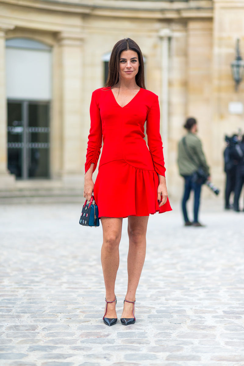 Holiday Outfit Ideas - Red Dress with Pumps // Notjessfashion.com