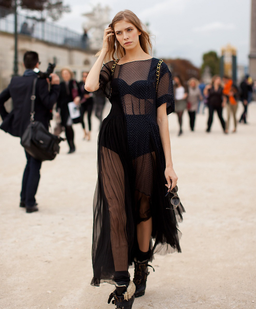 Dresses to Ring in 2018 - Black Sheer Panel Dress // notjessfashion.com