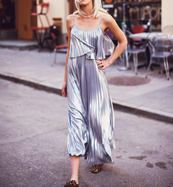 Dresses to Ring in 2018 - Metallic Maxi Dress // notjessfashion.com