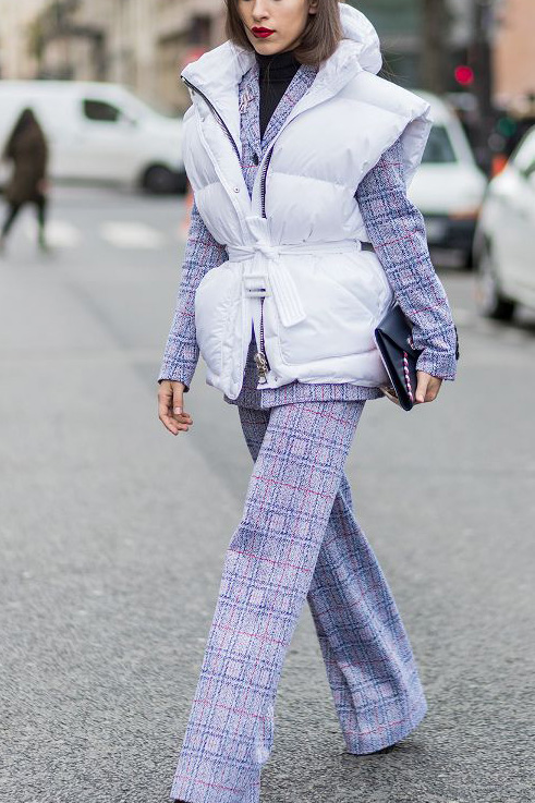 How to Wear Lavender Before Spring // Notjessfashion.com // plaid lavender suit, street style fashion