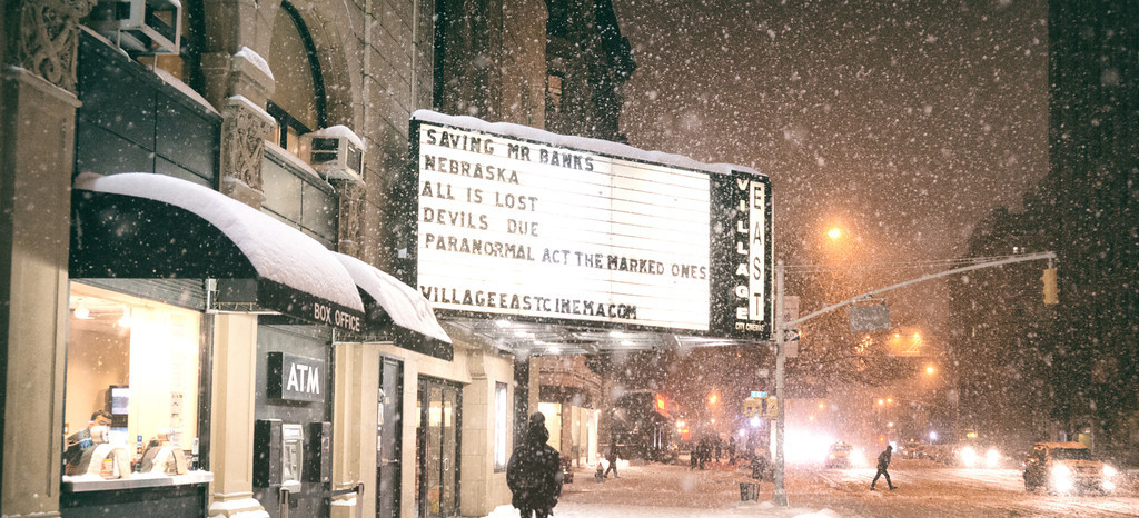 Places for Snow Photos in NYC - City Cinemas Village East // Notjessfashion.com