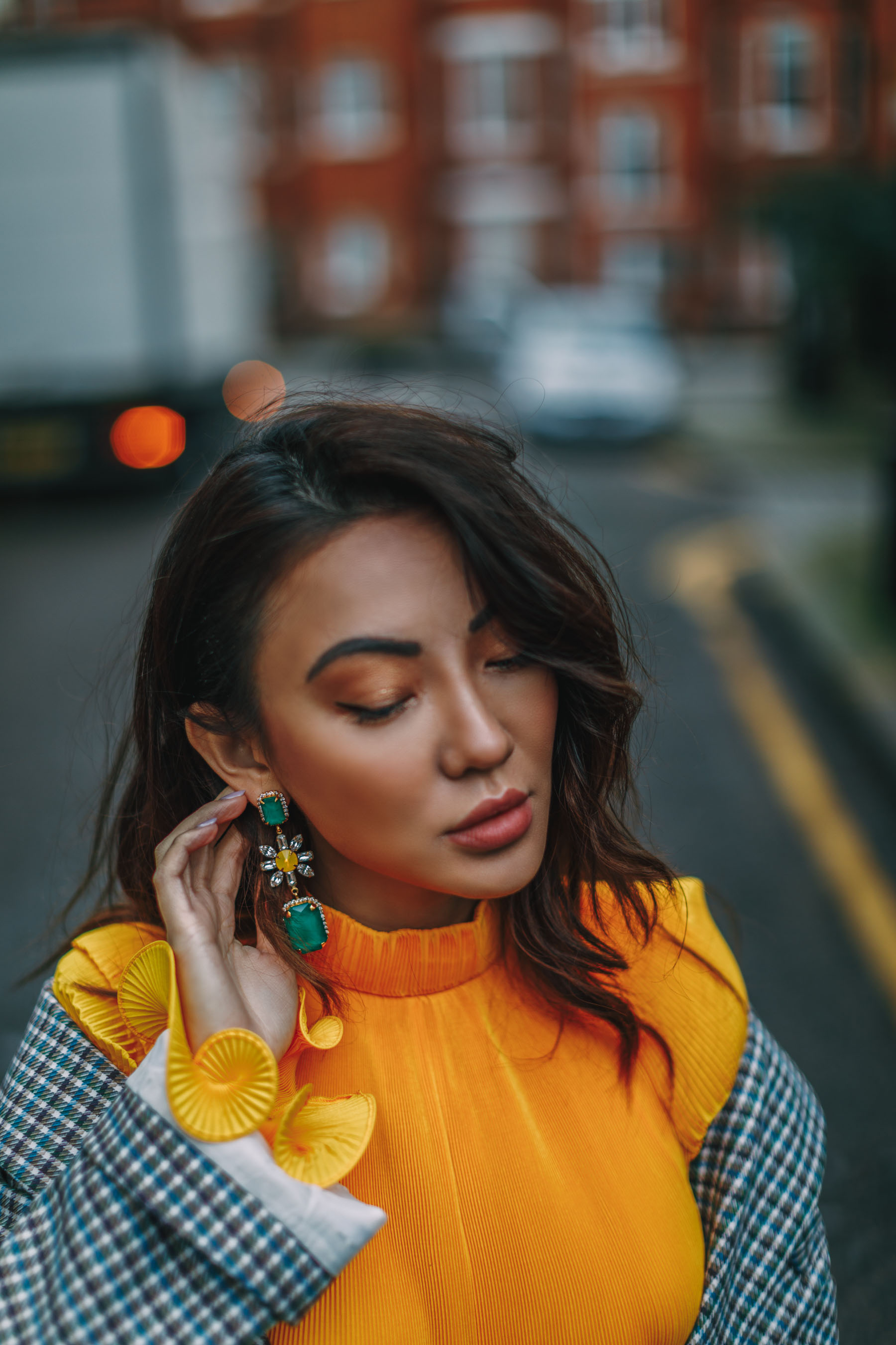 Biggest Jewelry Trends - Statement Drop Earrings, Green Statement Earrings // Notjessfashion.com