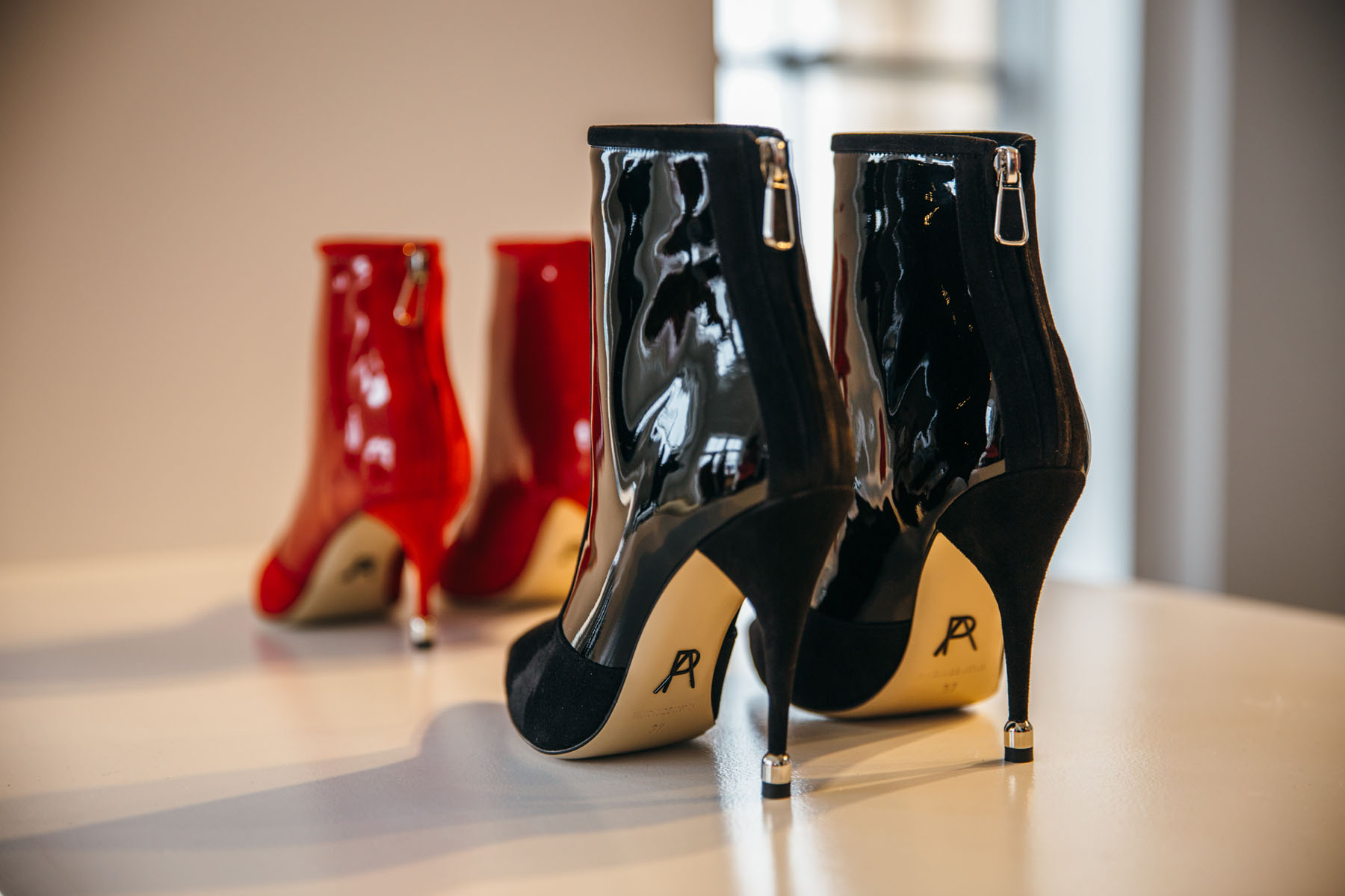 Paul Andrew AW18 Presentation // Notjessfashion.com // NYFW 2018, black patent leather boots