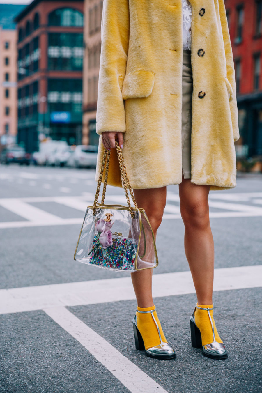 How to build the perfect fall wardrobe on a budget, used chanel bag, clear chanel bag // Notjessfashion.com
