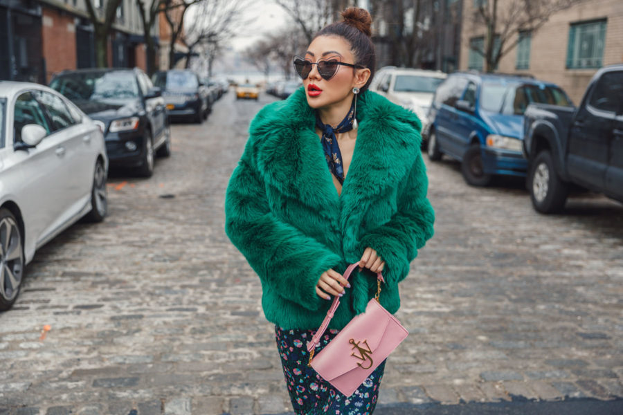How to Mix Textures - Fur and Sequin textures // Notjessfashion.com