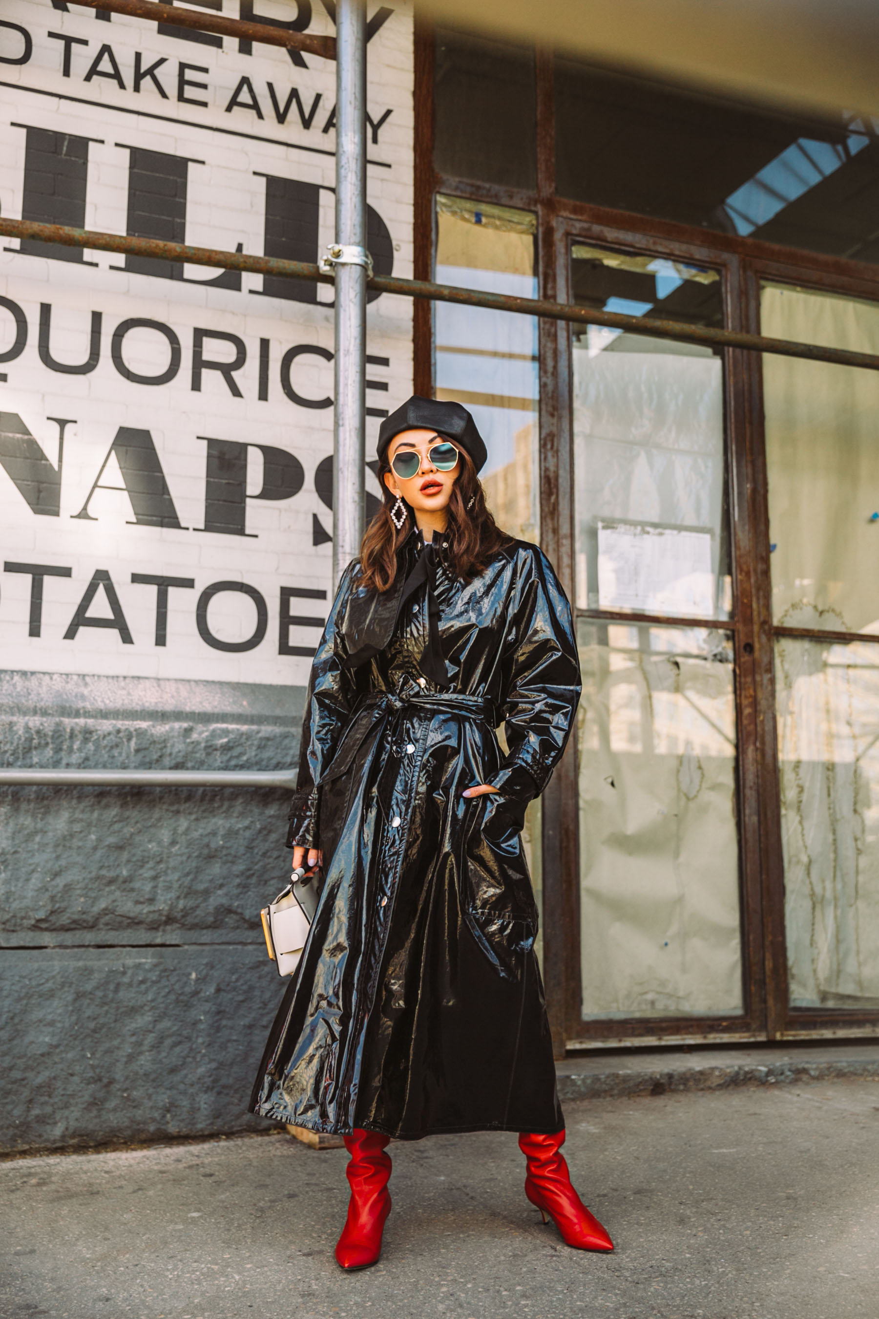 high street pieces for fall, leather trench coat, NYFW AW18 street style // Notjessfashion.com