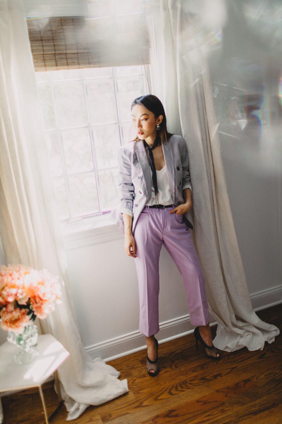 How to Create a Content Calendar - Banana Republic Lavender Trousers, blogger shoe closet // Notjessfashion.com
