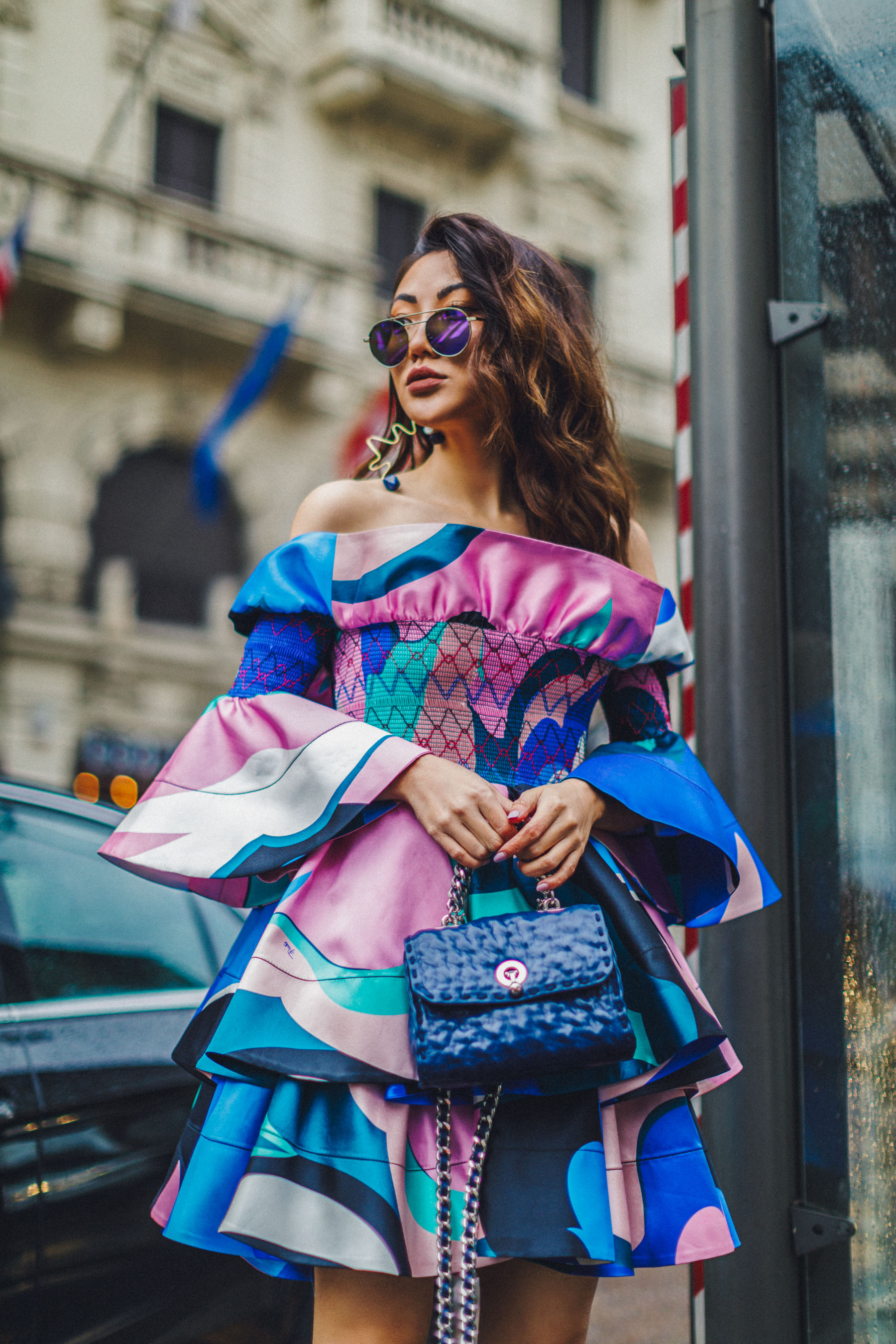 MFW Recap - Emilio Pucci Look, MFW Street Style, Emilio Pucci Dress // Notjessfashion.com