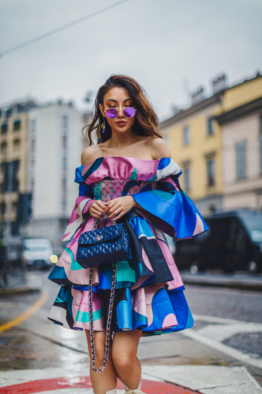 Shopbop Sale Alert - The Best Spring and Summer Items To Buy, Bold Statement Dresses, Off the shoulder dresses, Colorblock Dresses, Paris Streetstyle, Jessica Wang // NotJessFashion.com