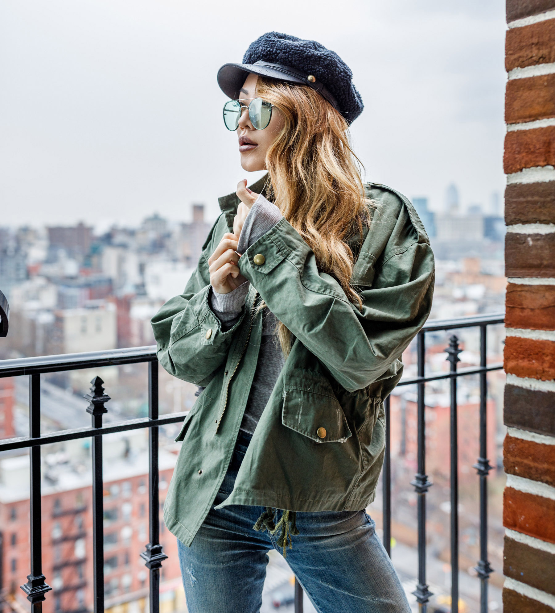 Spring Transitional Jackets - Army Green Utility Jacket // NotJessFashion.com