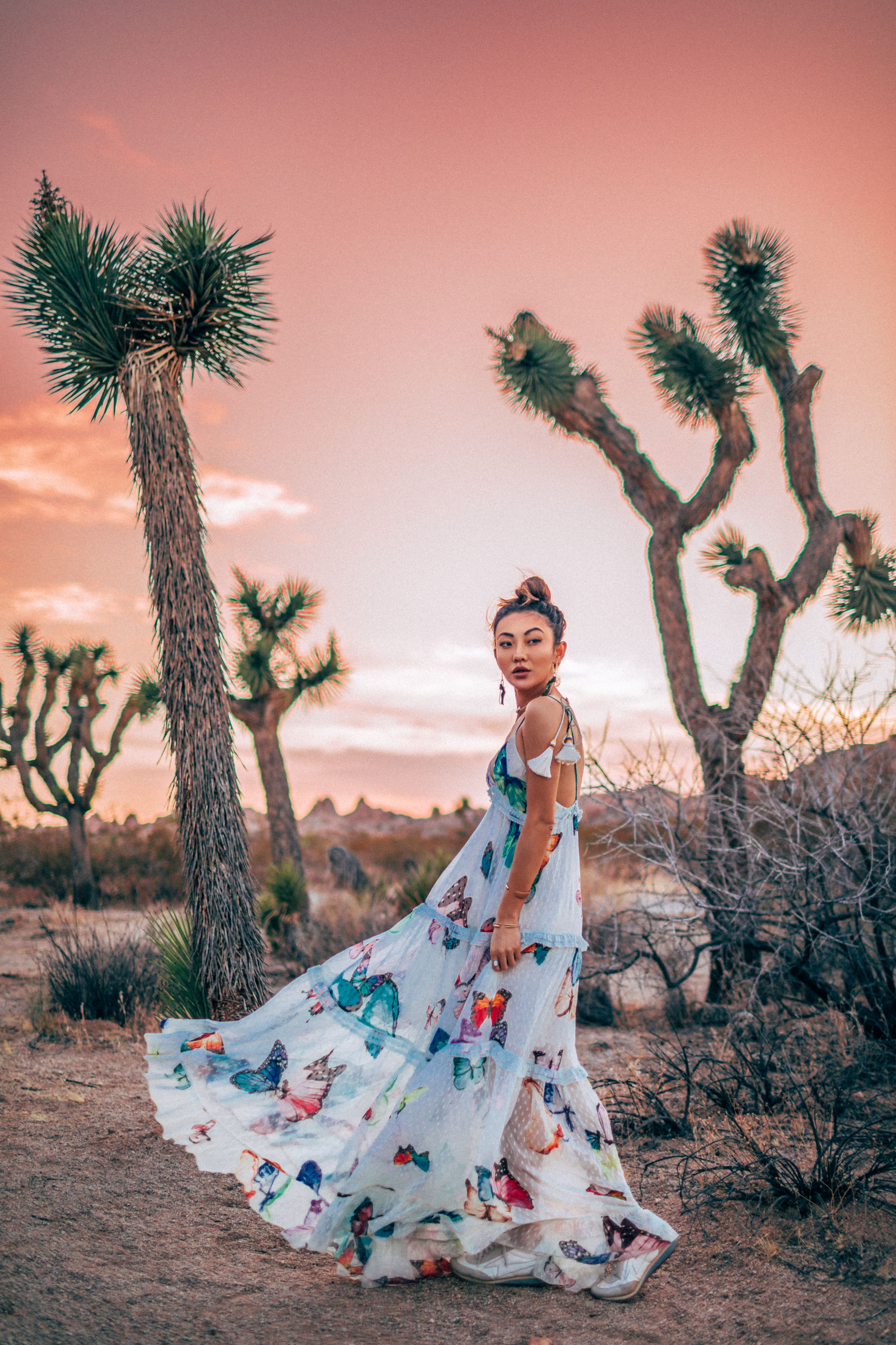 Bold Festival Style - Coachella Outfits Round Up, Butterfly maxi dress, rococo sands dress // Notjessfashion.com