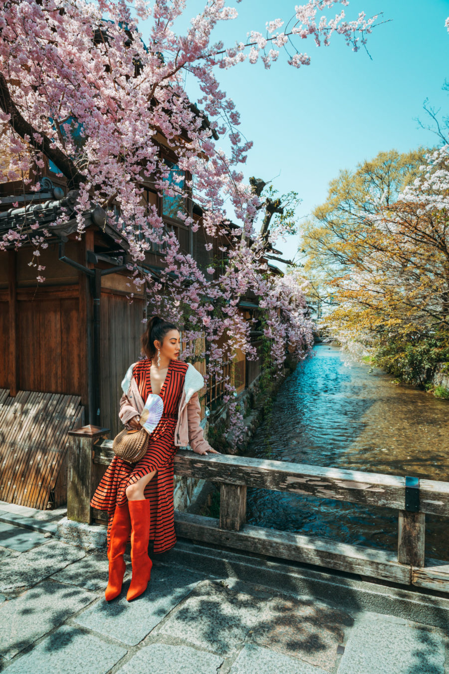 7 Best Spots for Cherry Blossoms in Japan - Kyoto - Stroll along Shirakawa River of Gion, luxury travel blogger // Notjessfashion.com