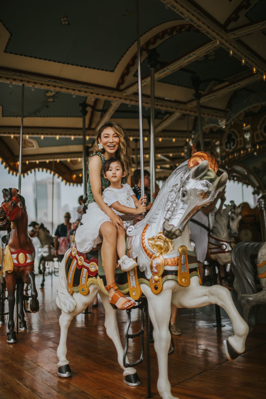 How I Spent My Memorial Day Weekend - smocked top, wrap skirt, summer outfit, casual summer outfit, merry go around // Notjessfashion.com
