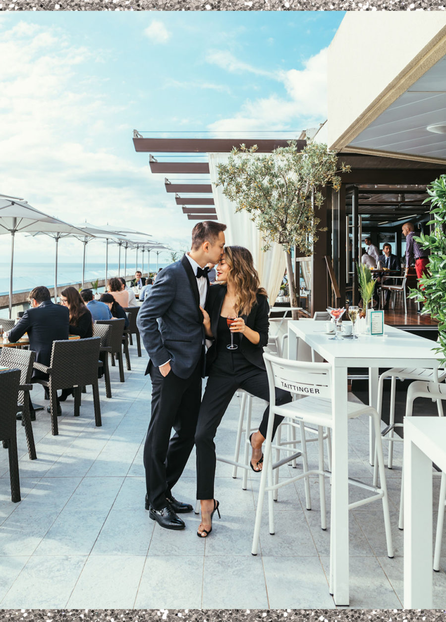 Monte Carlo with Fairmont x Le Labo - The Black Tux, the black tux men's suit, women's black tux, fairmont monte carlo, fairmont monte carlo terrace // Notjessfashion.com