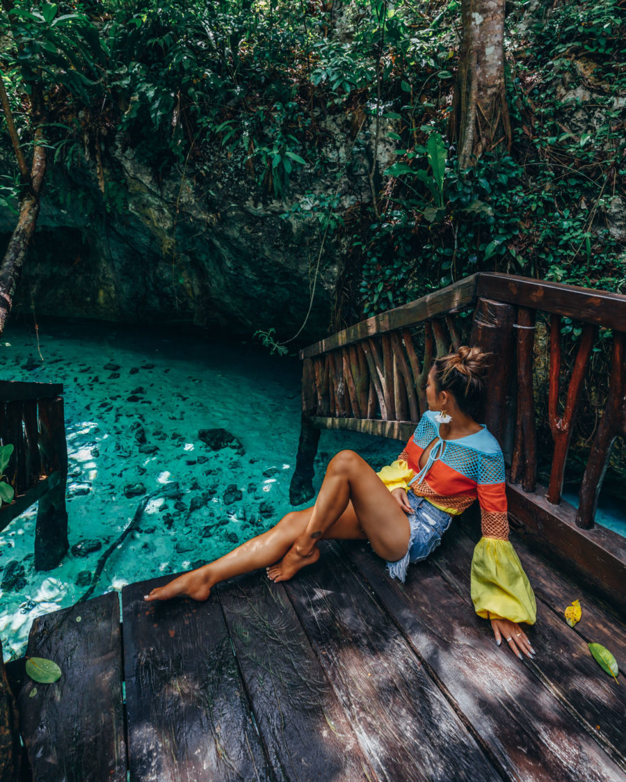 Safety Tips When Traveling to Mexico - Cenotes in Mexico // Notjessfashion.com