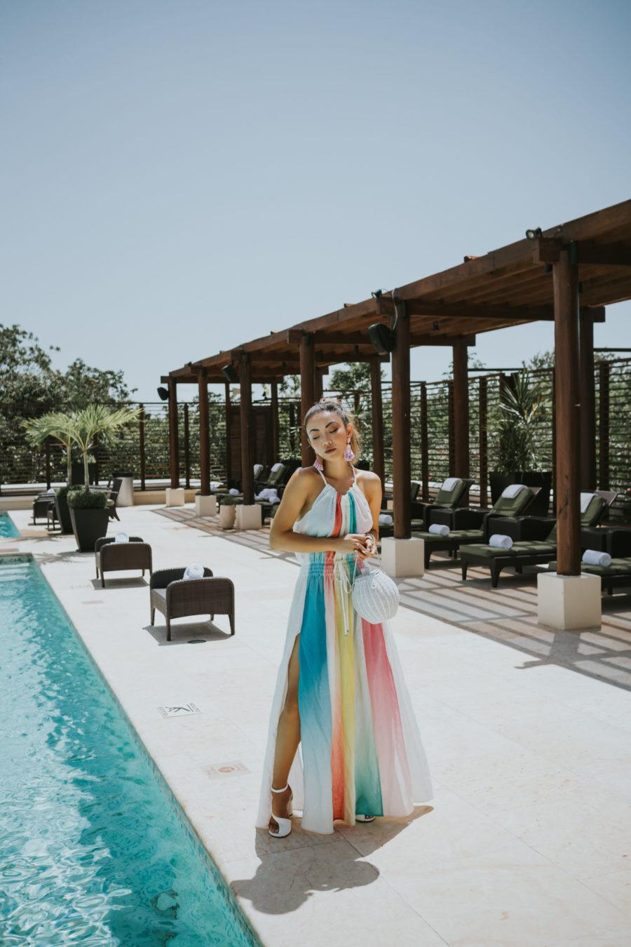 Fairmont Mayakoba x LIKEtoKNOW.it - color block dress, a mere co dress, vacation style // Notjessfashion.com