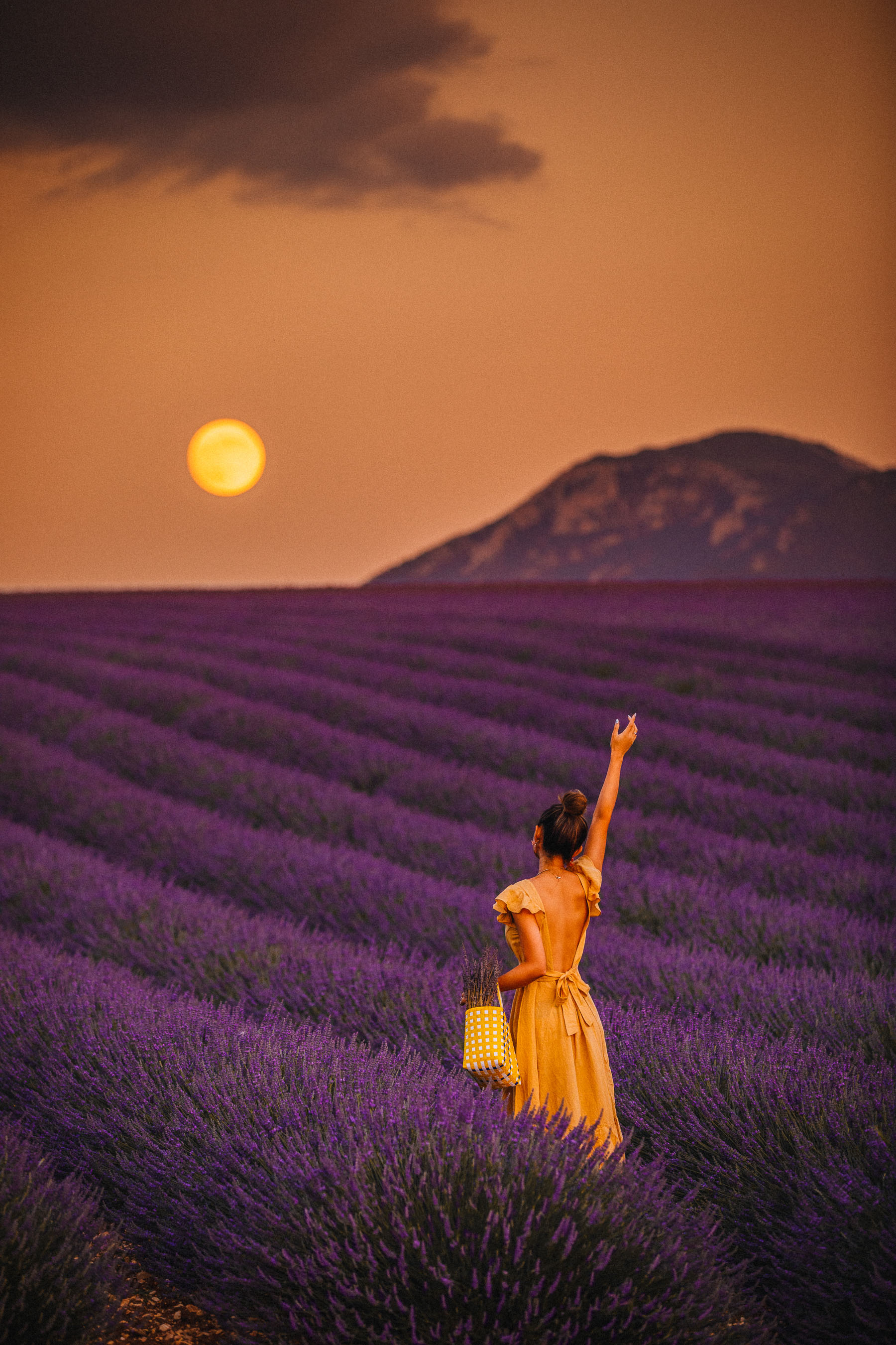 Lavender Fields of Provence, Lavender Fields Instagram, Full Moon and Lavender Fields // Notjessfashion.com