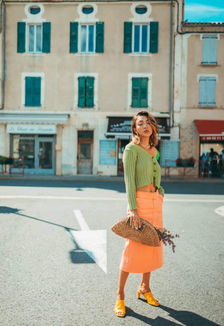 color block outfit, fashion in provence // Notjessfashion.com