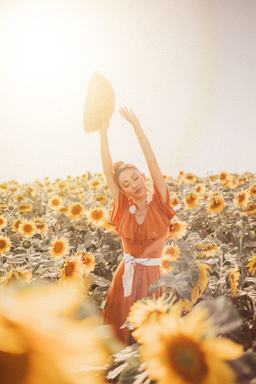Sunflower Field in Provence, Provence France // Notjessfashion.com