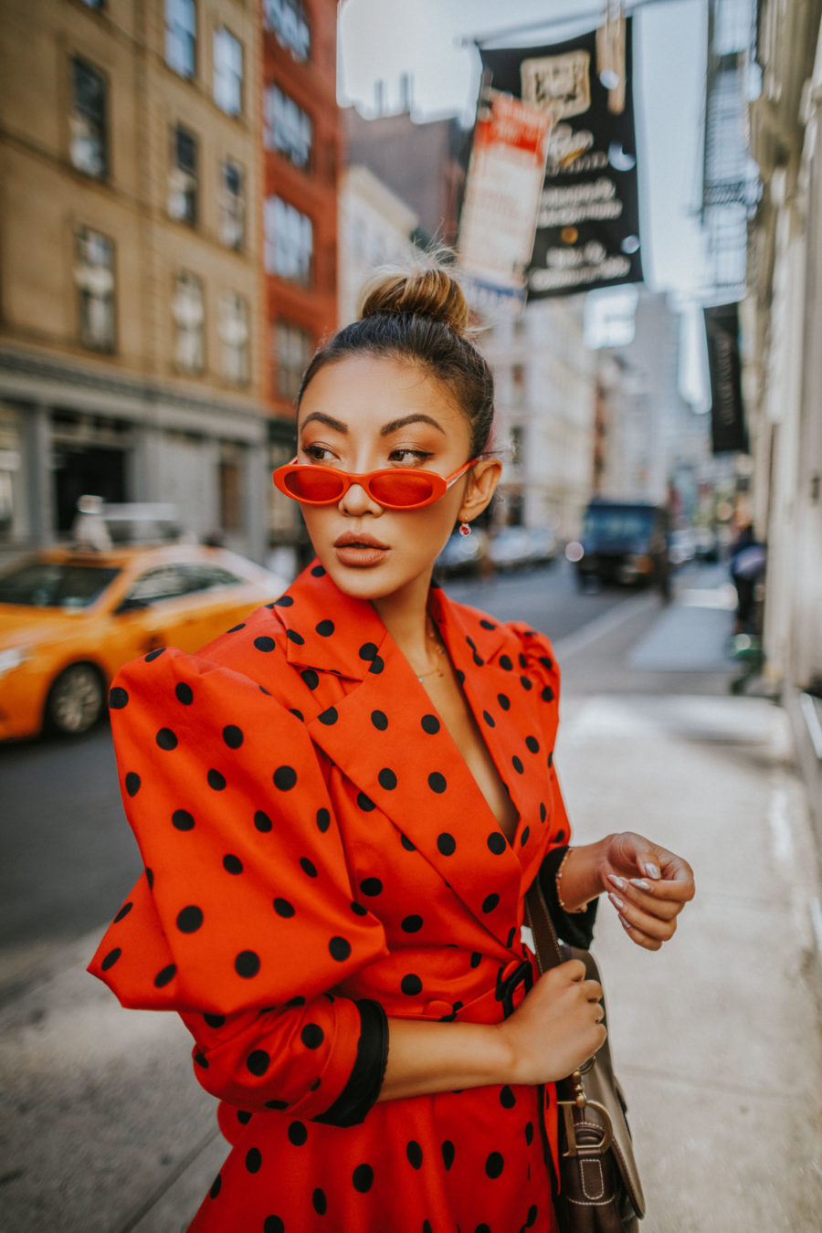 bold sunglasses, red sunglasses // Notjessfashion.com