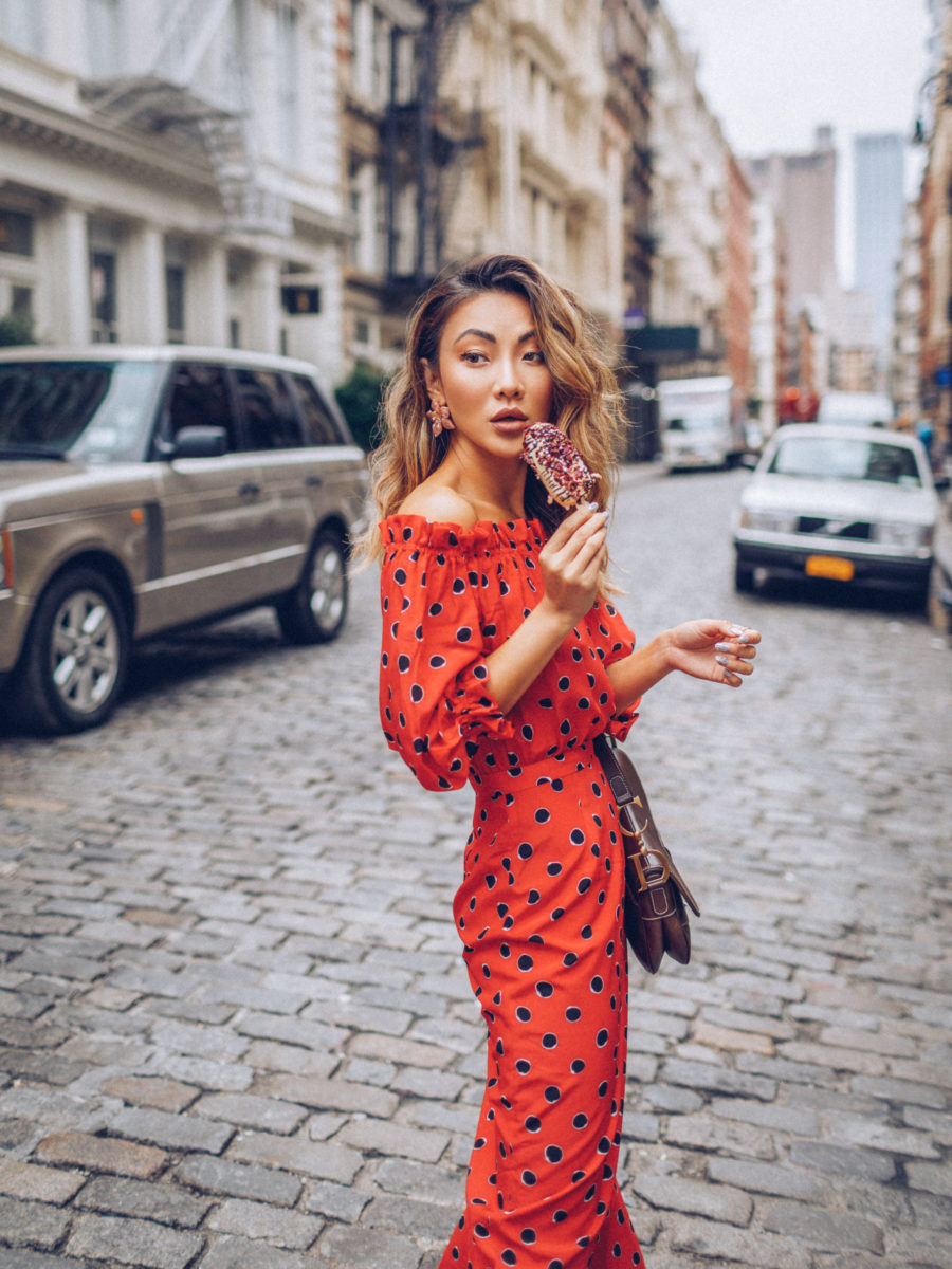 Best Spring Nail Polish Colors, red polka dot dress // Notjessfashion