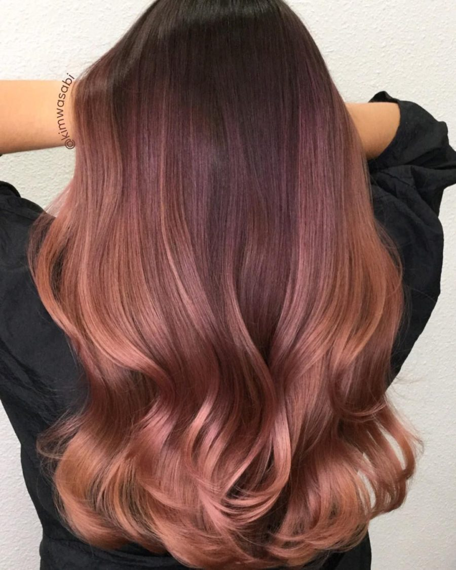 Rose Gold Hair Color Trend - deep rose gold hair // Notjessfashion.com