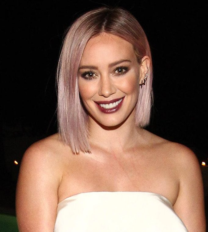 Rose Gold Hair Color Trend - Hillary Duff // Notjessfashion.com