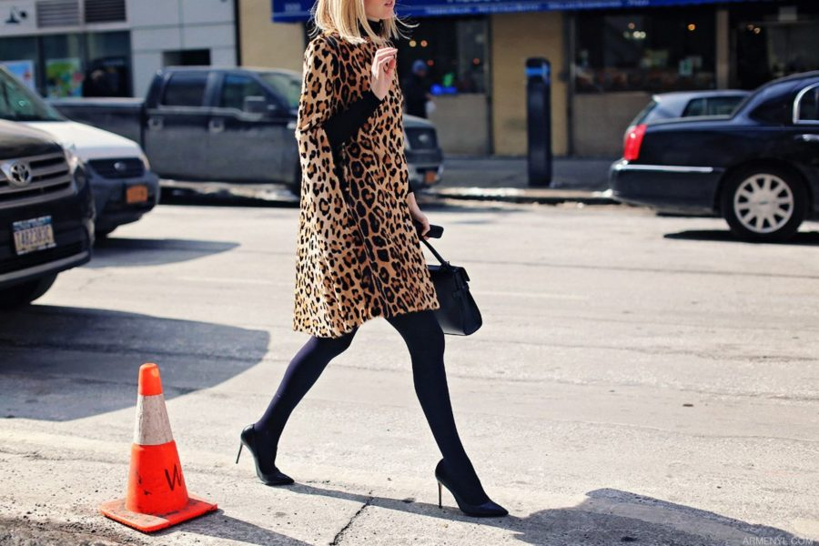 how to style leopard print for fall - leopard printed cape, leopard print outfit // Notjessfashion.com