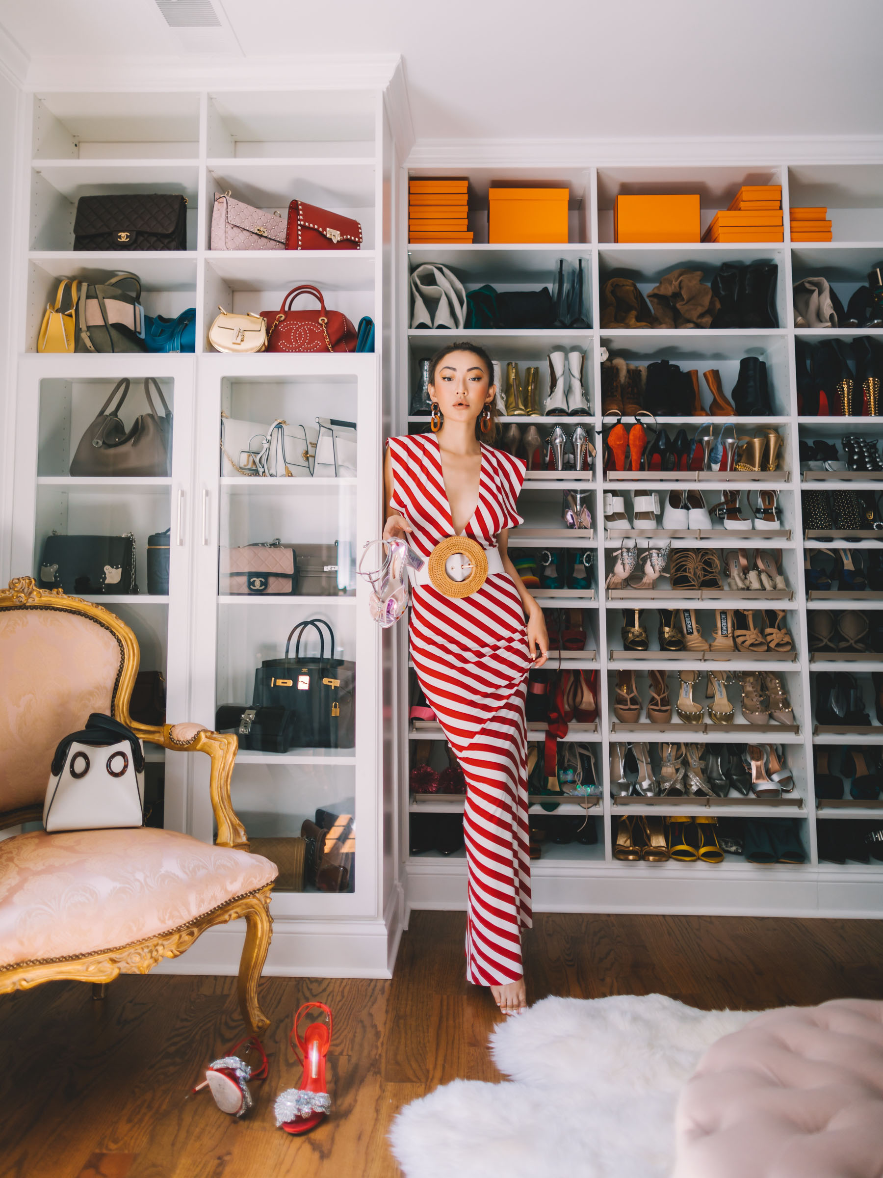 life hack products from amazon, red stripe dress, fashion blogger closet, fashion blogger bag collection, luxury fashion, nyc fashion blogger // Notjessfashion.com