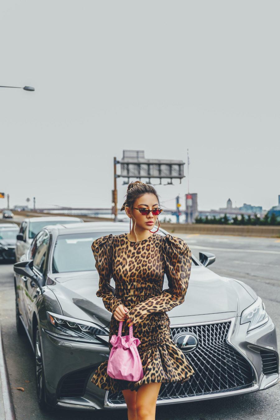 NYFW SS19 Recap, NYFW SS19 Street Style, leopard print trend, magenta heels // Notjessfashion.com
