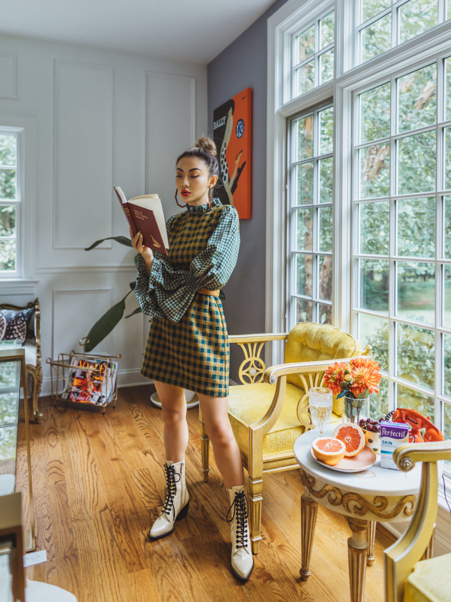 Life Changing Books to Fuel Success in Your Career - Plaid Dress with Lace Up Boots // Notjessfashion.com