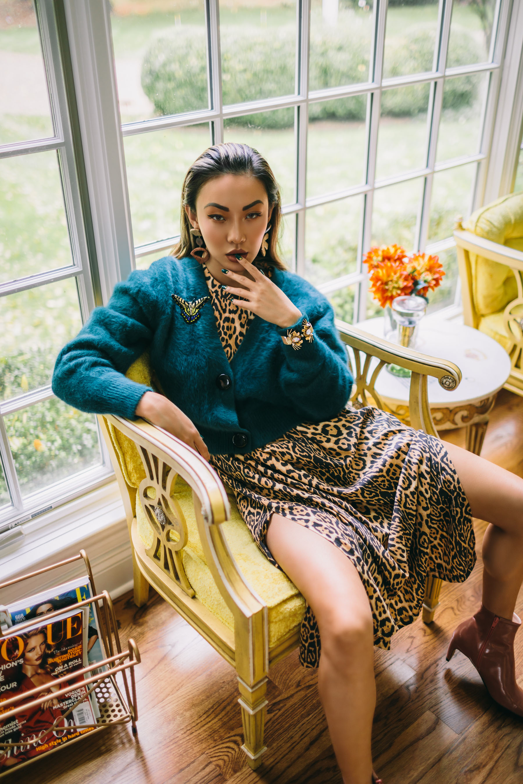 Must Have Sweaters for Fall and Winter 2019 - Sweater, Blue Button UP Cardigan, Mignonne Gavigan jewelry // Notjessfashion.com