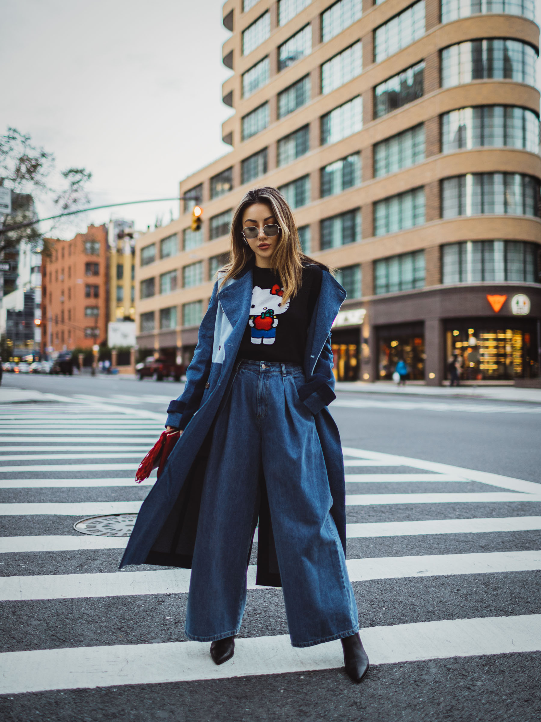 what to wear on lazy days, Layers for fall, fall denim trends // Notjessfashion.com