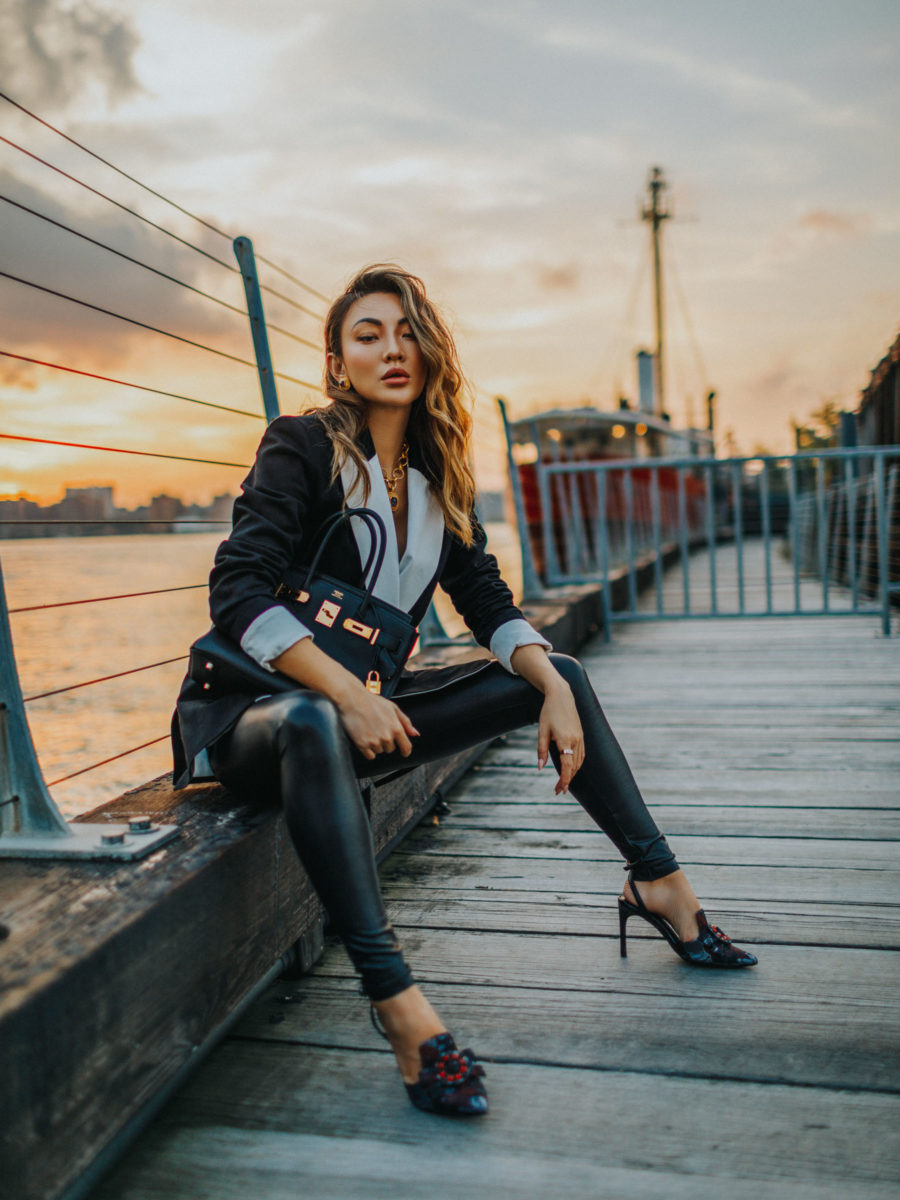 Clothing Items Worth Investing In - Blazer, Blazer with leather pants // Notjessfashion.com