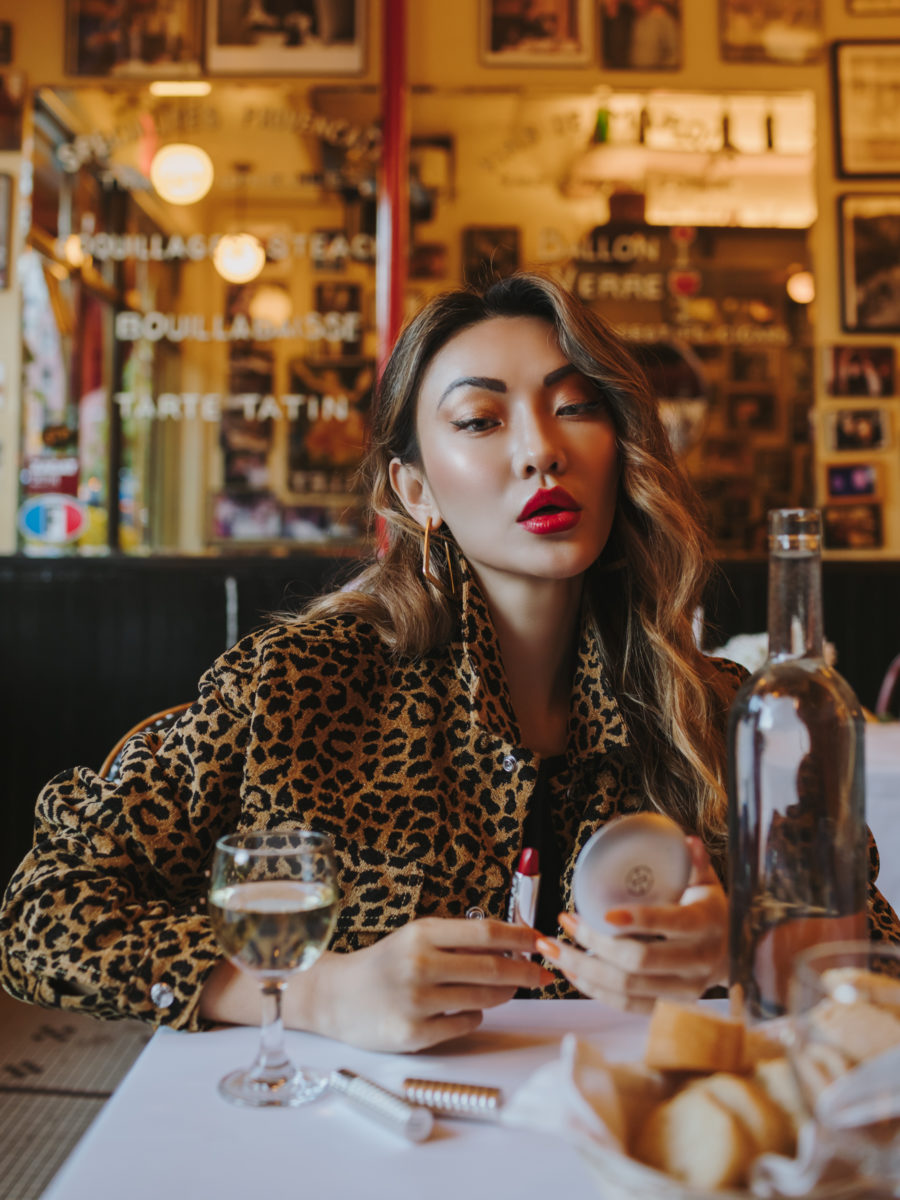 The Best Black Friday Beauty Deals - red lipstick, leopard print jacket // Notjessfashion.com