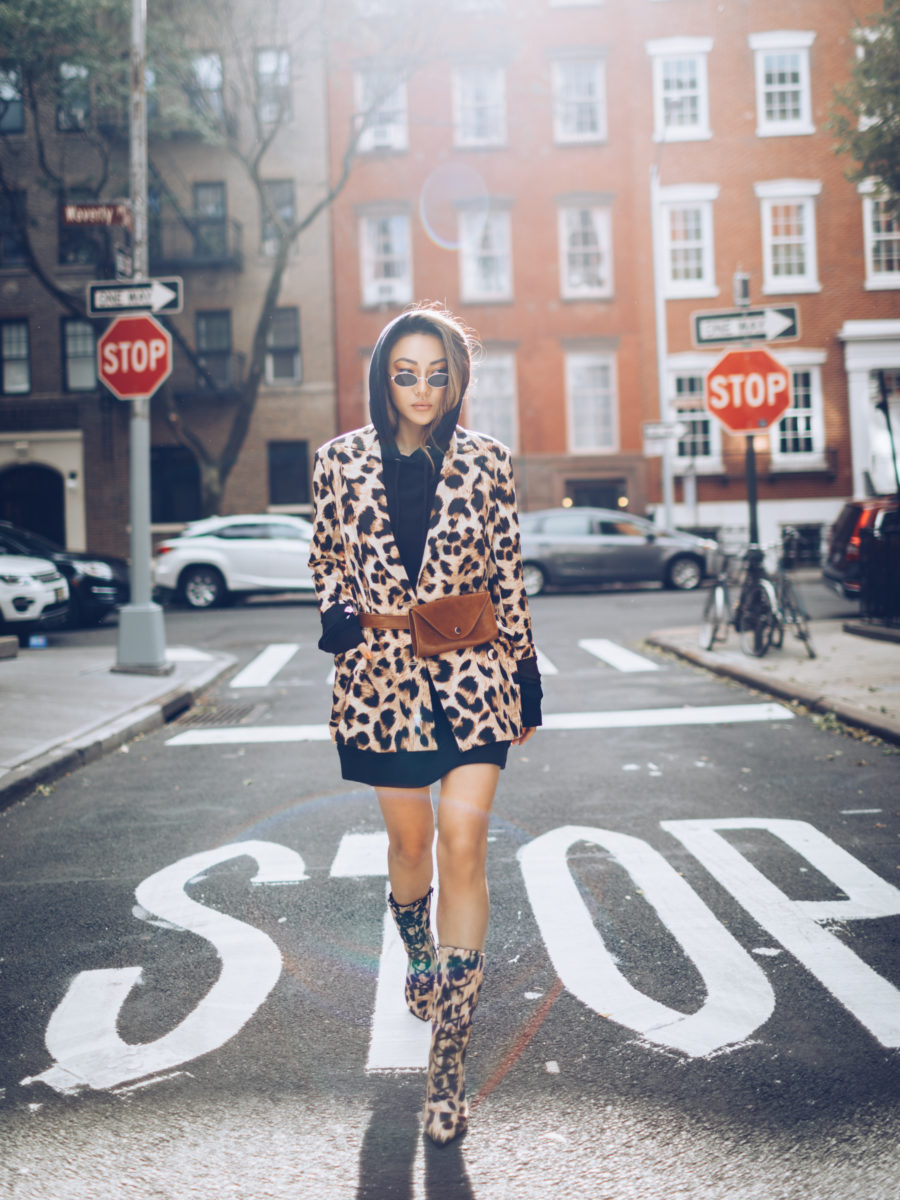 old school fashion trends that are coming back, leopard print outfit, mid-calf boots // Notjessfashion.com