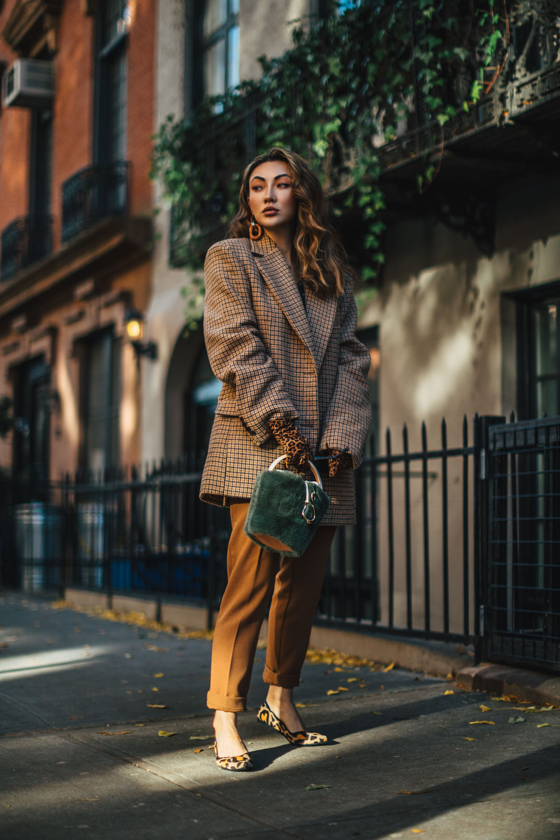 fall workwear essentials, Rothy's pointed flats, rothy's leopard print flats // Notjessfashion.com