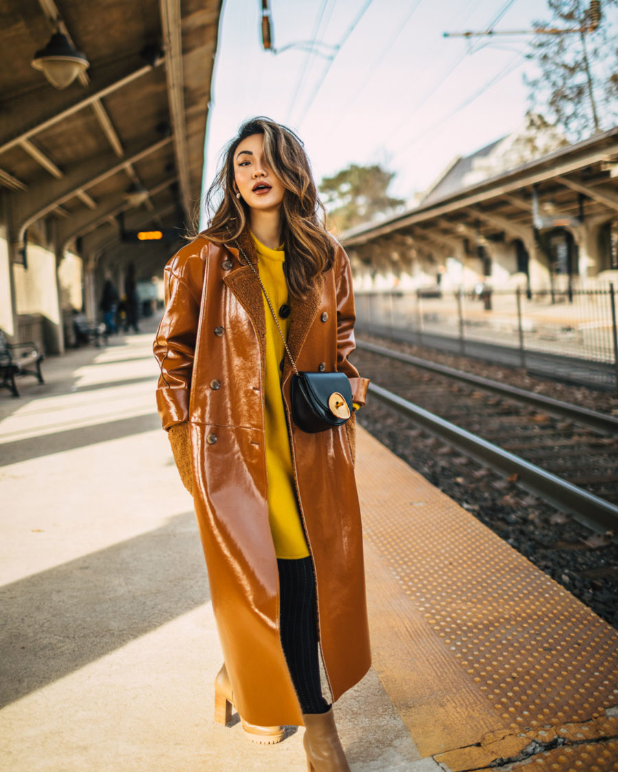 How to look taller and slimmer - duster coat, leather trench coat // notjessfashion.com