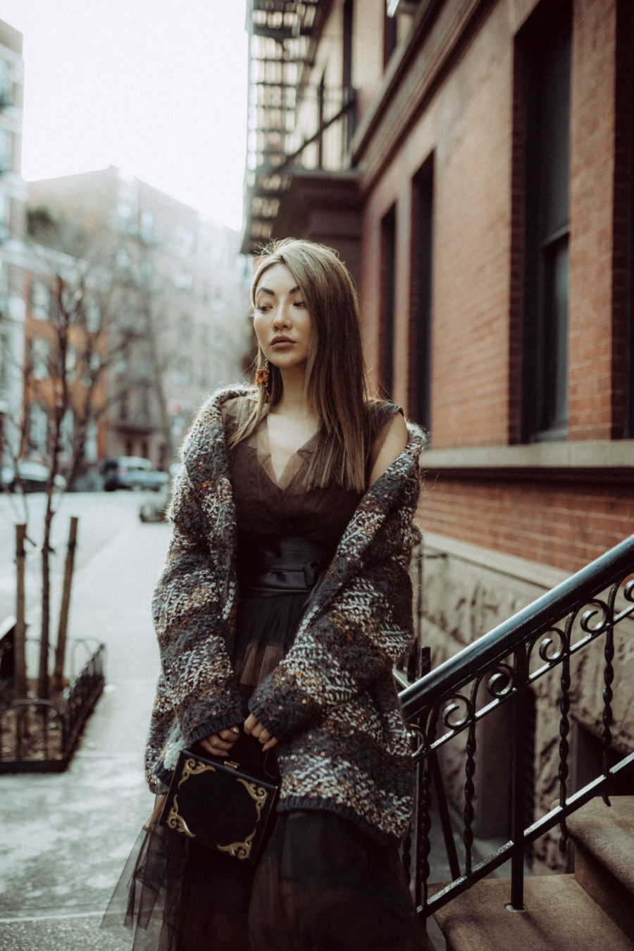 nyfw street style, nyfw spring 2019 street style, brunello cucinelli tulle skirt // notjessfashion.com