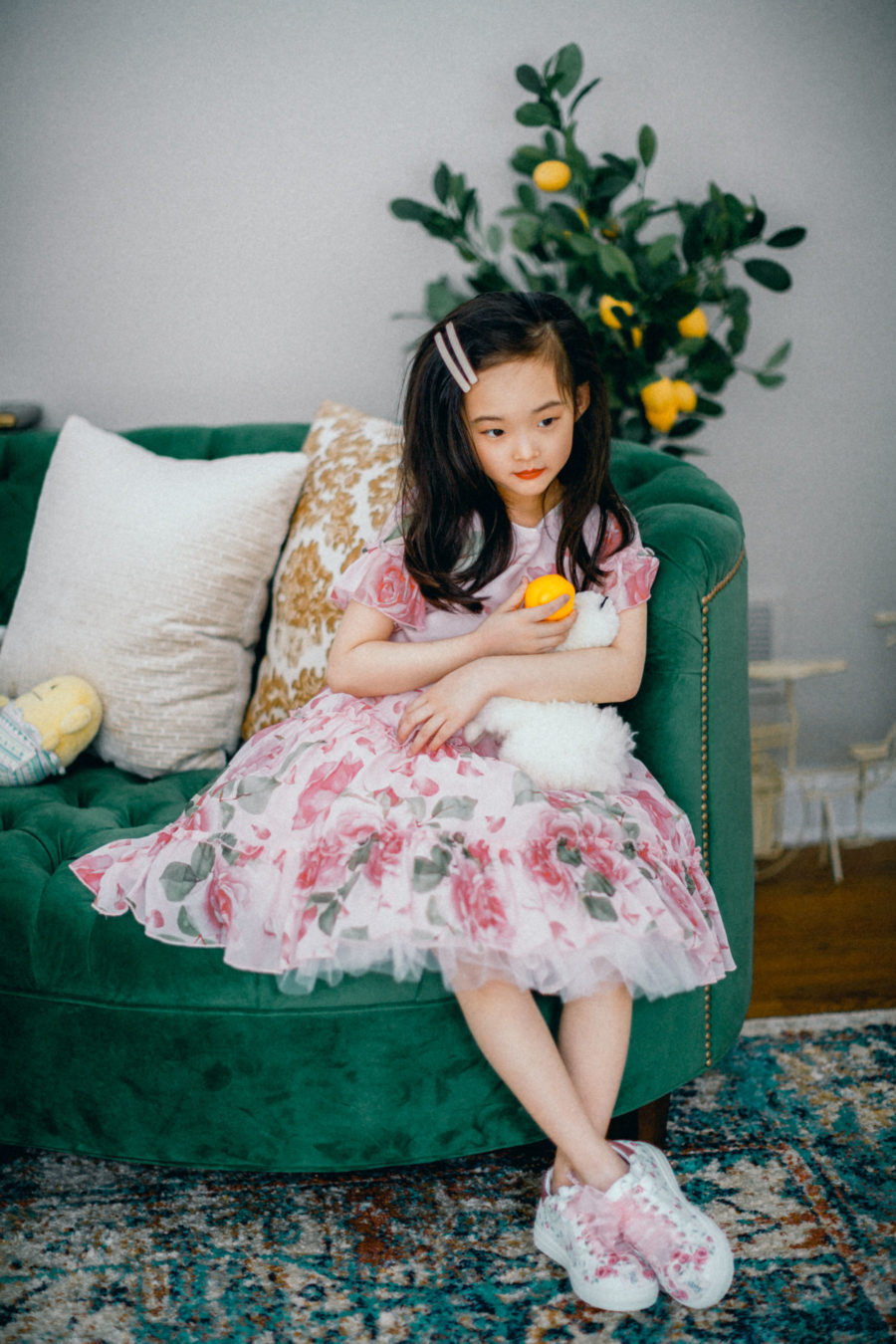 fun rainy day activities with kids, monnalisa floral dress, monnalisa floral sneakers // Notjessfashion.com