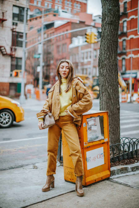 Best outfits for in-between weather, transitional outfits, tan outfit // notjessfashion.com