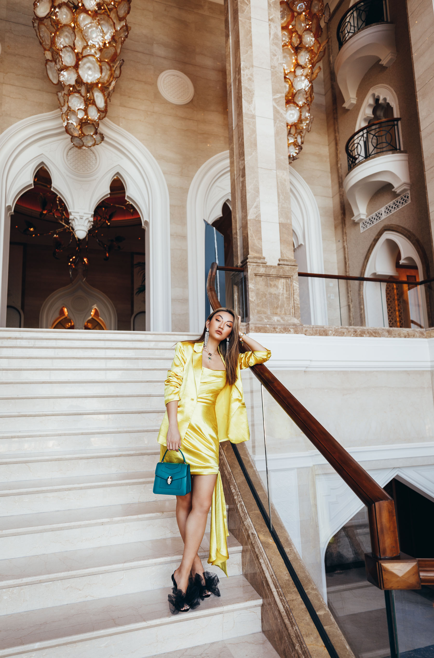 wedding guest outfit ideas, Colors fashion girls are wearing for spring, yellow dress, yellow slip dress, cinq a sept dress // Notjessfashion.com