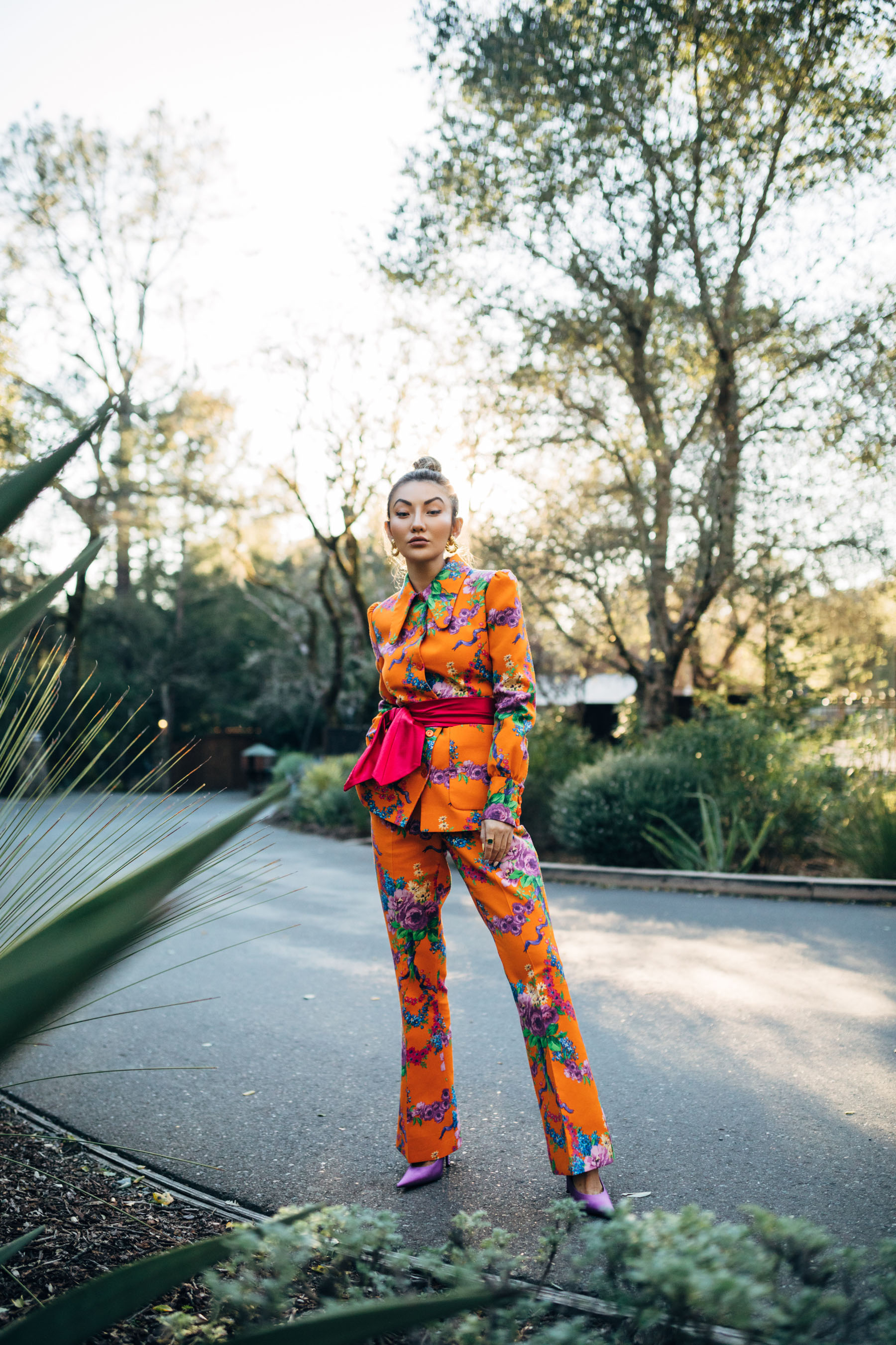 neon trend, full neon outfit, neon outfit inspiration, neon fashion, neon suit // Notjessfashion.com