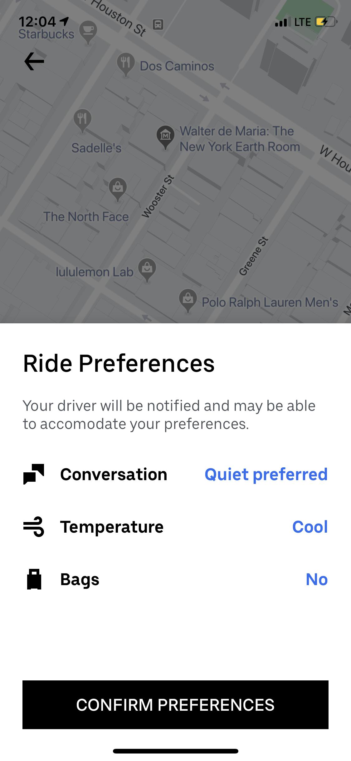 uber black preferences // Notjessfashion.com