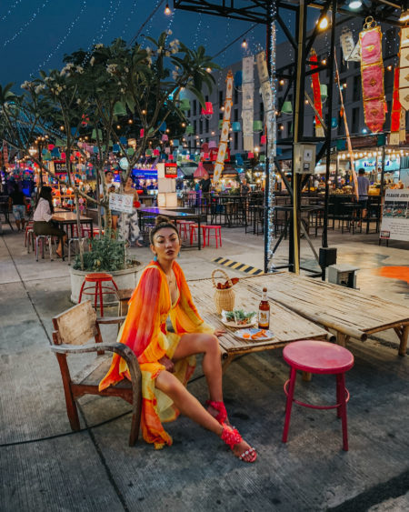 pieces that photograph well, nights in chiang mai, orange dress, flared sleeve details // Notjessfashion.com